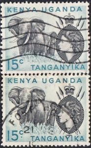 Kenya, Uganda, Tanganyika #105-106  Used