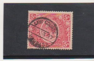 Kenya Uganda & Tanganyika Scott # 34 Used 1922 5sh Carmine KGV Issue Very Fine