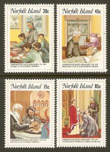 Norfolk Island #352-5 NH Rev. Nobbs