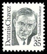 PCBstamps  US #2186 35c Dennis Chavez, 1991, MNH, (6)
