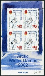 Greenland B26a sheet,MNH. Arctic Winter Games 2002.