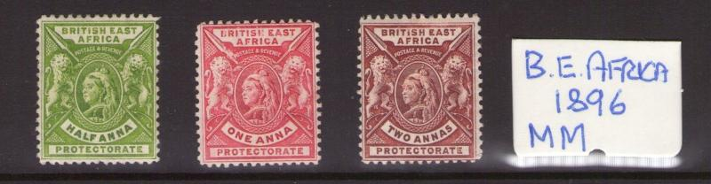 British East Africa Victoria 1896 values to 2Annas,multiple,multi-colour L/Hinge