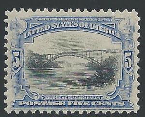 Scott 297, Original gum, 1901 Pan American Issue