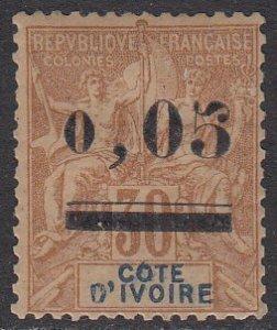 Ivory Coast 18 MLH CV $87.50