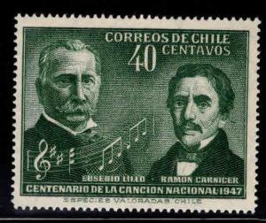 Chile Scott 249 MH* music stamp