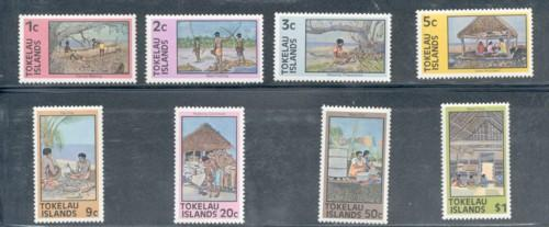 Tokelau Sc 49-56 1976 views long stamp set mint NH