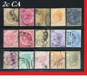 MALAYA 1882-91 STRAITS SETTLEMENTS QV wmk CA 15V Used SG#50-53/63-71 M2548