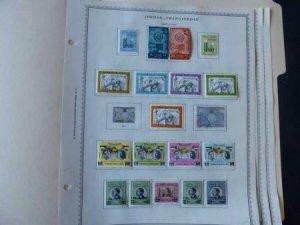 Jordan 1963-1965 Stamp Collection on Alb Pgs