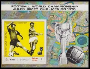 1970Yemen (Arab R. YAR )1158/B132b1970 World championship on football of Mexi