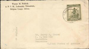 BELGIUM CONGO 1943 SINGLE TO UNITED STATES