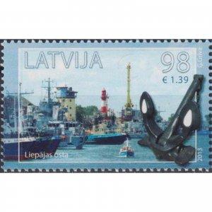 Latvia 2013 Port of Liepaja  (MNH)  - Ships, Lighthouses, Port