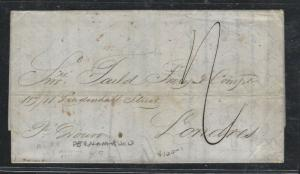 BRAZIL  (PP2701B) 1871  BRTISH PO PERNAMBUCO TO LONDON