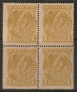 Crete 1901 Sc 64 block MNH**