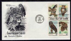 US 1763a Owls Artcraft U/A FDC