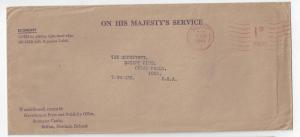 UK Northern Ireland OHMS 1949 Economy Cover Belfast Meter e