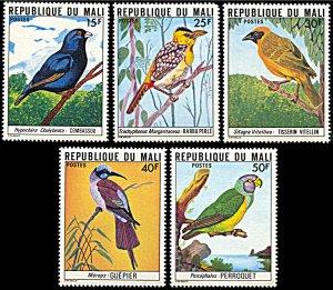 Mali 273-277, MNH, Birds