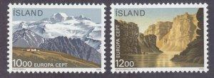 Iceland 622-23 MNH 1986 EUROPA - National Parks Set of 2 Very Fine