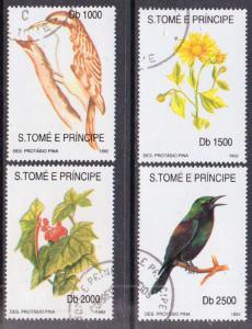 St. Thomas & Prince  #1054I-L  used CTO (1992) c.v. $35.00
