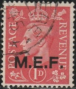 Great Britain, Middle East Forces, #1  Used From 1942-43