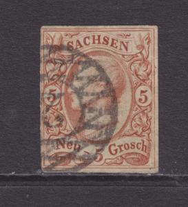 Saxony Sc 13a, used. 1860 5ng orange brown King John, sound, F-VF