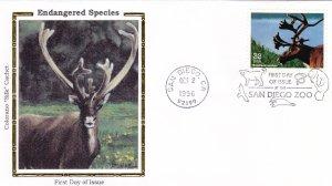 1996, Endangered Species-Woodland Caribou, Colorano Silk, FDC (E9216)