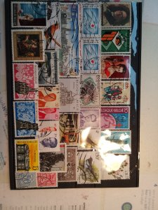 Lot 1 Belgique full page, 30 stamps used