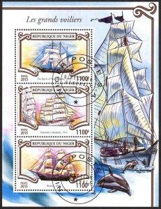 Niger 2015 Sailing Ships Boats Sheet Used / CTO