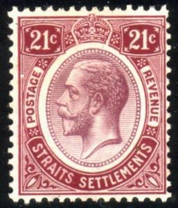 MALAYA STRAITS SETTLEMENTS 1912-23 GV 21c SG204 fine mint..................50842