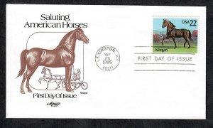 2156 Horses:  Morgan  Unaddressed Artmaster FDC