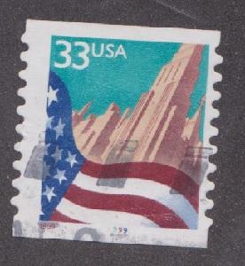 US #3281 Flag over City Used PNC Single plate #9999