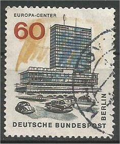 BERLIN, 1966, used 60pf Europa Center Scott 9N229