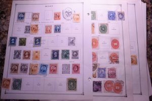MEXICO OLD UNCHECKED COLLECTION ON ALBUM PAGES  z129 SUPERIORSTAMPS
