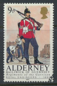 Alderney  SG A23  SC# 23 Military Uniforms Used First Day Cancel - as per scan