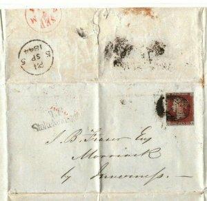 GB Cover *Hall of Commerce* London Stoke Newington EL Letter 1844 {samwells}EP42