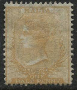 Malta QV 1880 1/2d orange yellow mint o.g.