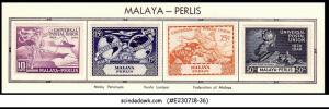 MALAYA PERLIS - 1949 75th Anniversary of UPU - 4V - MINT HINGED