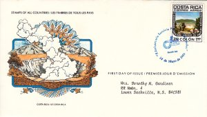 Costa Rica 1980 FDC Sc #C786 1col Poas Volcano