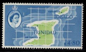 TRINIDAD & TOBAGO QEII SG297, $4.80 apple-green & pale blue, LH MINT. Cat £22.