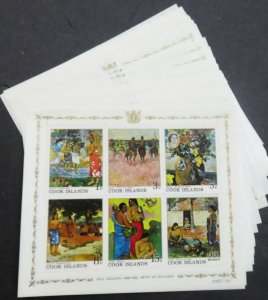 EDW1949SELL : COOK ISLANDS 1967 Scott #226a Paintings 34 S/S VF MNH Catalog $127