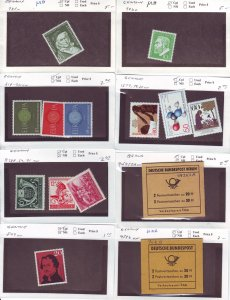 Z633 JL stamps germany mnh/mh on sales cards, check scan, all checked sound