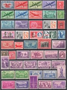 Mint Oldies Group of 46 Stamps: MH/MHR
