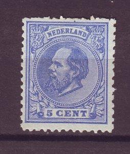 J25551 JLstamps 1872-88 netherlands mnh #23 king weak perfs top $57.50 scv