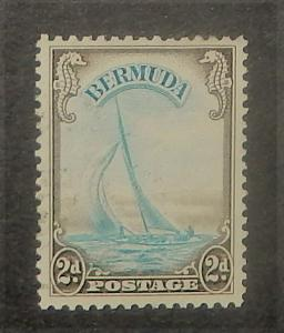 Bermuda 109. 1936-40 2p Brown and blue yacht, used