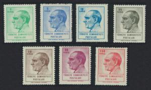 Turkey Kemal Ataturk Definitives 7v 1964 MNH SG#2074-2080 MI#1931=1957
