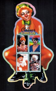 Sierra Leone MNH S/S Circus Clowns 4 Stamps