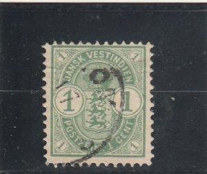 Danish West Indies  Scott#  21  Used  (1900 Arms)