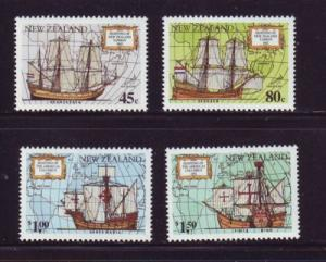 New Zealand Sc 1089-92 1992 Columbus Tasman stamps NH