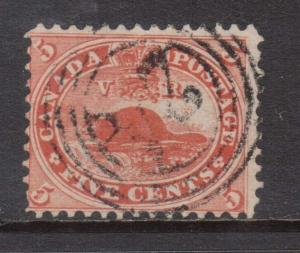 Canada #15 Used With 4 Ring 24 Oakville Cancel