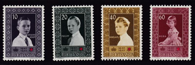 Liechtenstein 1955 Red Cross Royal Children (4) VF/NH