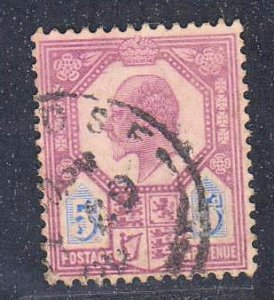 Great Britain,  King Edward VII, 5p  (SC# 134) Used